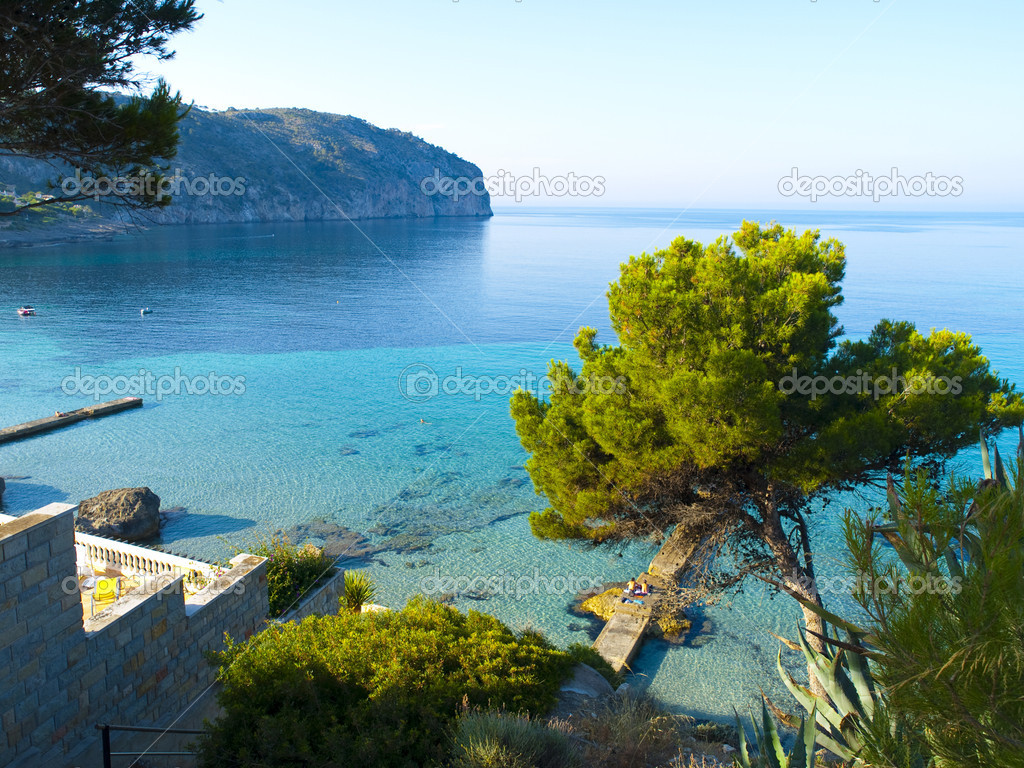Camp de Mar is a resort area located in the municipality of Andratx, Mallorca, Autonomous Community of the Balearic Islands, Spain.  — Stock Photo #3557521