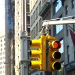 Trafficlights in Manhattan — Stock Photo