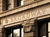 Broadway Engrave in a Manhattan Building — Stock Photo