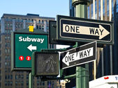 Street Signs in Manhattan — Stock Photo