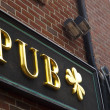 Stock Photo: Pub Gold Sign