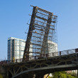 Working on the Bascule Bridge - Stock Photo