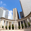 Millennium Monument in Wrigley Square, Chicago - Stock Photo