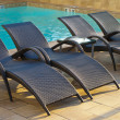 Swimming Pool Sun Lounger — Stock Photo