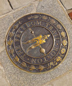 Freedom Trail Badge, Boston — Stock Photo