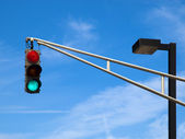 Traffic-Lights on the sky — Stock Photo
