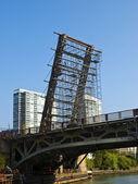 Werken aan de basculebrug — Stockfoto