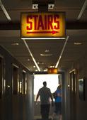 Walking Along the Corridor — Stock fotografie