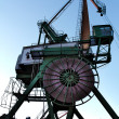 Stock Photo: Dockside crane in Inner Harbour of Karlsruhe, Germany