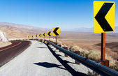 Death Valley NP: Sharp Curve — Stock Photo