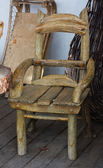 Retro scene old fashioned chair — Stock Photo