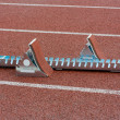 Stock Photo: Starting blocks
