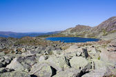 Mountain landscape. Lake Karovoe. Siberian Natural Park Ergaki. — Stock Photo
