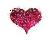 Corazón de los pequeños corazones rojos — Foto de Stock