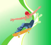 Skateboarder — Stock Vector