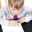 The boy draws — Stock Photo #3303306
