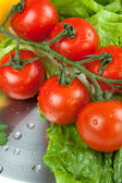 Tomatoes on a scales — Stock Photo