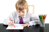 Boy with pencils — Stock Photo