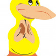 The surprised duck. - Stock Vector