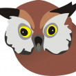 Head of wild owl — Stock Vector #3313816