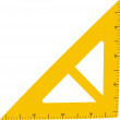 Yellow big ruler - Stockvectorbeeld