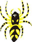 Giftige spin — Stockvector