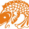 The big fish - Stock Vector