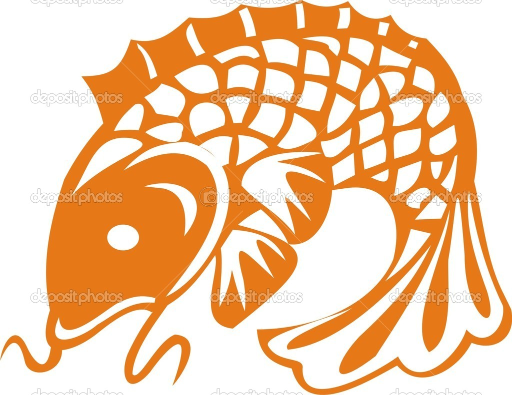 The big fish. A vector illustration — Stock Vector #3591916