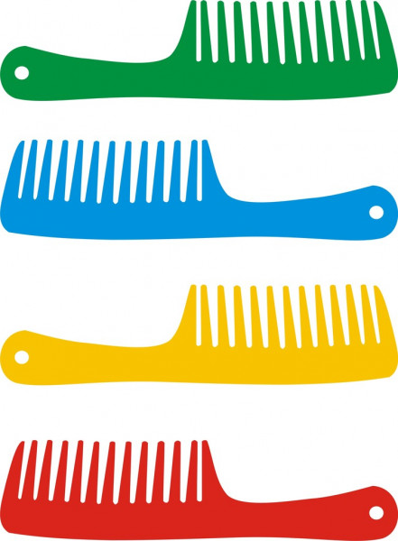 Set of hairbrushes — Stock Vector #3809072