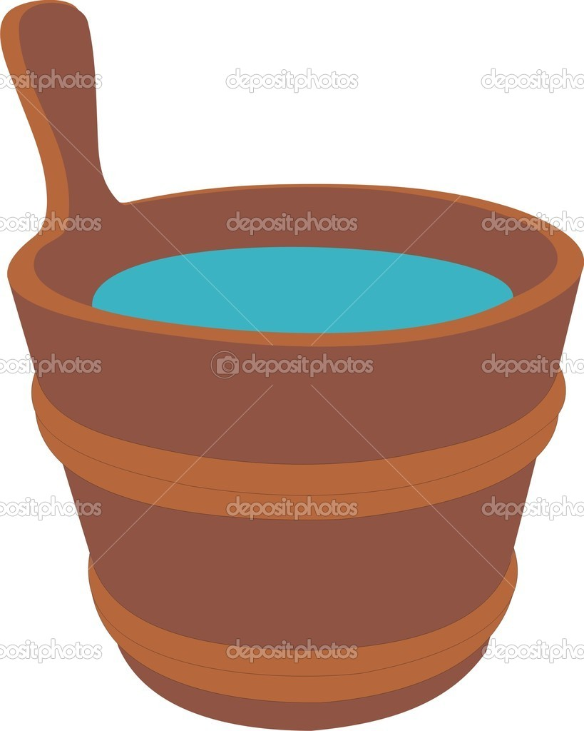 A bucket for a bath — Stock Vector #3809519