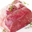 Raw beef roast - Stock Photo