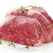 Raw beef roast - Stockfoto