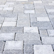 Interlocking stone driveway - Stock Photo