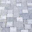 Interlocking stone driveway — Стоковое фото
