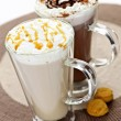 Hot chocolate and coffee beverages — Stock Photo