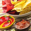 Tortilla chips and salsa — Stock Photo #4466505