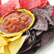Tortilla chips and salsa - Stock Photo