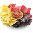 Stock Photo: Tortillchips and salsa