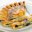 Poppy seed strudel — Stock Photo