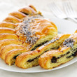 Poppy seed strudel - Stock Photo