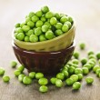 Bowl of peas — Stock Photo