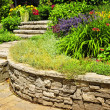 Foto Stock: Natural stone landscaping