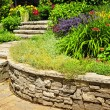 Foto de Stock  : Natural stone landscaping