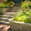 Natural stone landscaping - Stock Photo