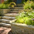 Natural stone landscaping — Stock fotografie