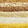 Stok fotoğraf: Various grains close up
