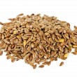 Stock Photo: Brown flax seed