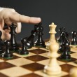 Checkmate in chess - ストック写真