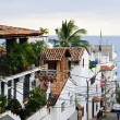 Stock Photo: City street in Puerto Vallarta, Mexico