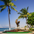Friendship fountain in Puerto Vallarta, Mexico - Stock Photo